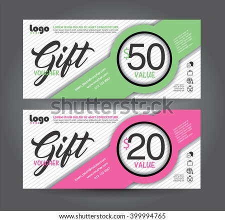 Discount voucher template with clean and modern pattern. Vector illustration - stock vector