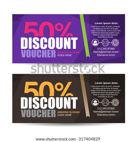 Vector Illustrationgift Voucher Template Colorful Patterncute – Lunch Voucher Template