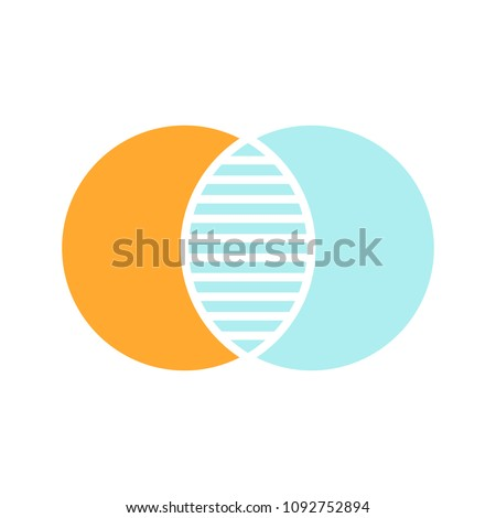Discrete Maths Glyph Color Icon Overlapping Stock Vector Hd Royalty
