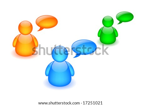 Discussion board icon - stock vector
