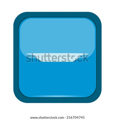 Dish icon on a blue background - stock vector