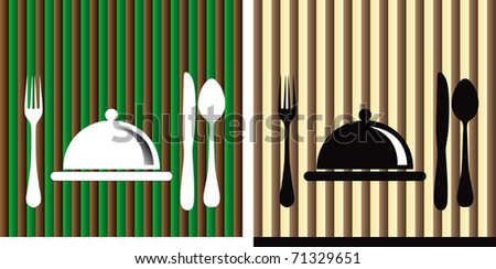 dishes in a restaurant - stock vector