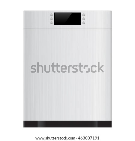 Dishwasher. Vector illustration isolated on white background