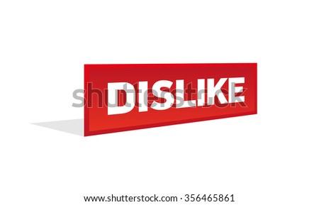 DISLIKE - stock vector