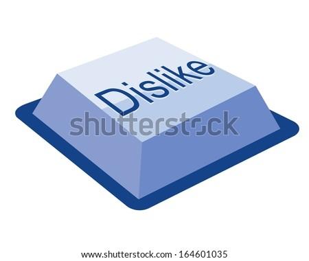 dislike keyboard button - stock vector