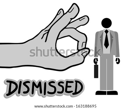 Dismissed draw - stock vector