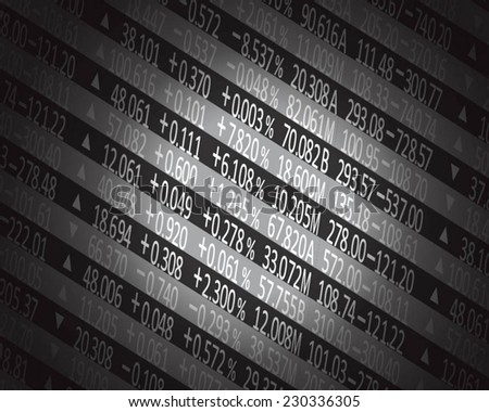 Display of Stock market quotes. - stock vector