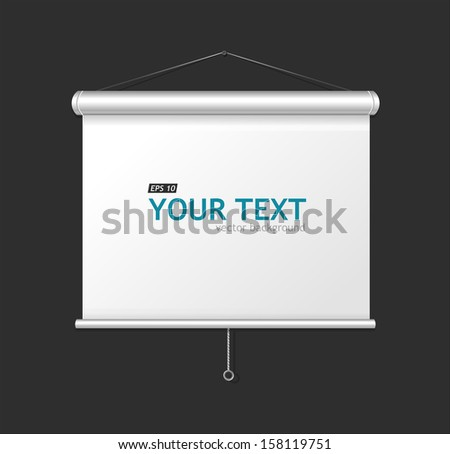 display on white background - stock vector