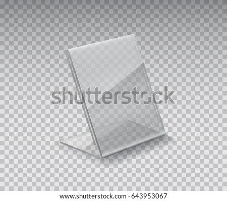 Display stand or acrylic table tent card holder isolated on transparent background. Vector empty  sc 1 st  Shutterstock & Display Stand Acrylic Table Tent Card Stock Vector 643953067 ...