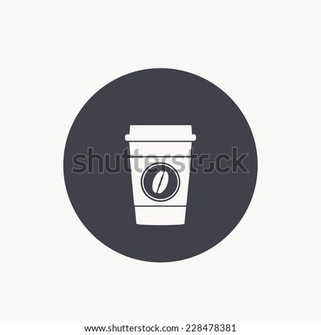 disposable coffee cup icon - stock vector