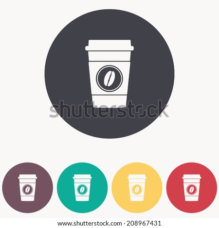 Disposable coffee cup icon, vector illustration - stock vector