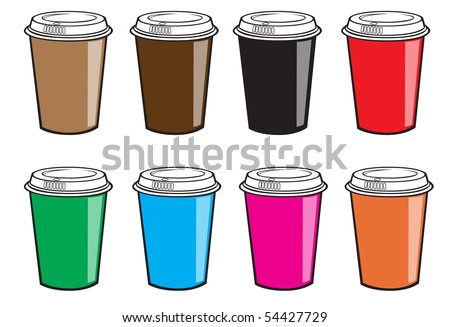 Disposable Coffee Cup Vector - stock vector