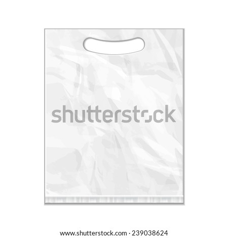 Disposable Plastic Bag Package Grayscale Template Stock Vector ...