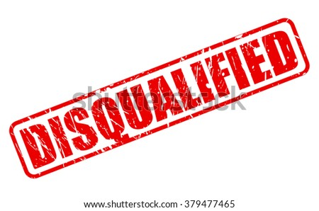 DISQUALIFIED red stamp text on white - stock vector