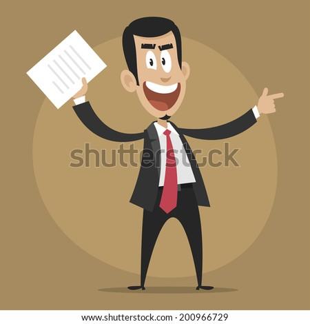 Dissatisfied boss dismisses employee - stock vector