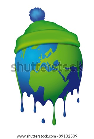 dissolves the World - stock vector