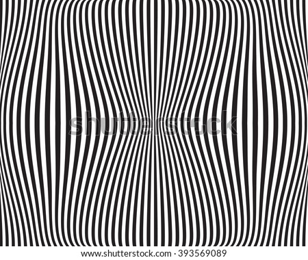 Distorted lines - Wavy, dynamic lines - stock vector