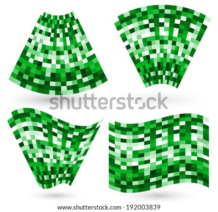 distortions on mosaic tiles - stock vector