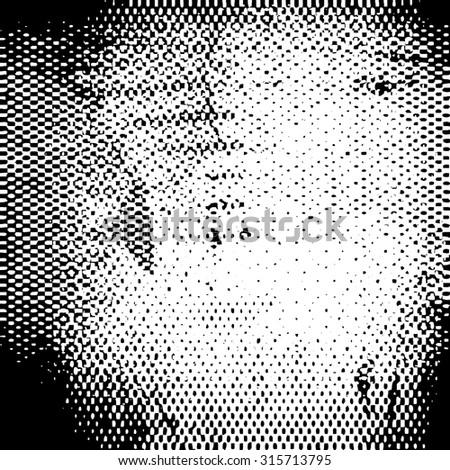 Distress Background Texture . Grunge halftone dots vector texture background. Pixel background Texture. - stock vector
