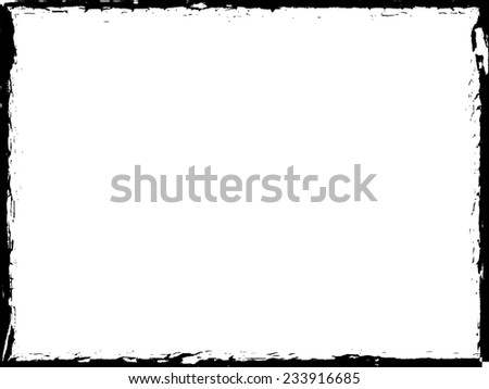 Distress Border Frame. Vector Illustration.  - stock vector