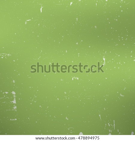 Distress Green Paint Texture For Making Your Design Shabby And Aged. Dust And Grain Empty Color Grunge Background. EPS10 vector.