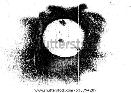 Distress Overlay Texture. Grunge Circle background. Empty Design Template. EPS10 vector.