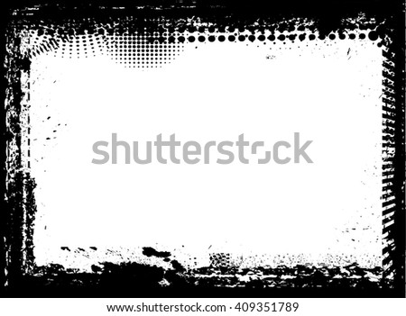 Distressed Frame in Grunge Style. Photo Image Frame. Vector Illustration.