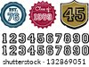 Distressed Grunge Numbers for Graduation and Established Date - stock vector
