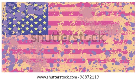 Distressed grunge Usa flag in rusty colors - stock vector