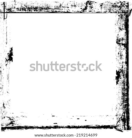 Distressed highly detailed grunge frame with space for your text or image. Grunge style design . Vector illustration.