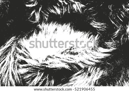 Distressed overlay texture of natural fur, grunge vector background. abstract halftone vector illustration