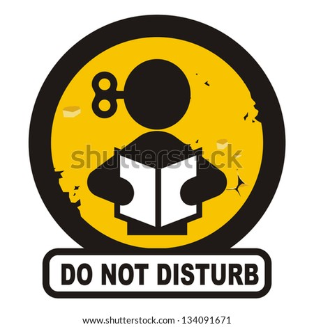 Disturb sign - stock vector