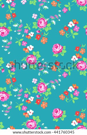 ditsy roses and flowers print ~ seamless background
