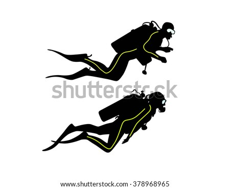 diver - stock vector