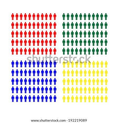 diversity and difference vector illustration - stock vector