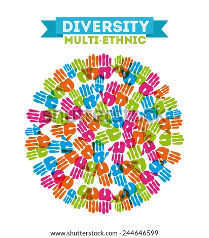 diversity concept design, vector illustration eps10 graphic - stock vector