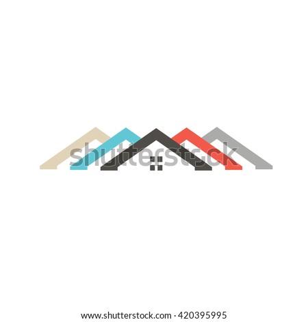 Diversity Houses logo. Vector graphic illustration - stock vector