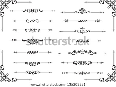 Divide lines isolated on white - stock vector