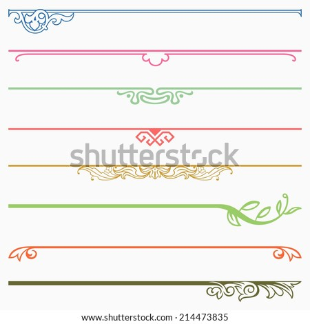 Dividers - stock vector