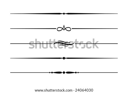 Five Decorative Lines Fancy Line Accent Clipart