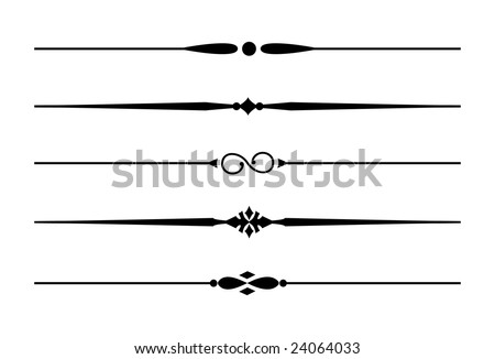 Dividers accents 7 five decorative lines stock vector royalty free five decorative lines thecheapjerseys Gallery