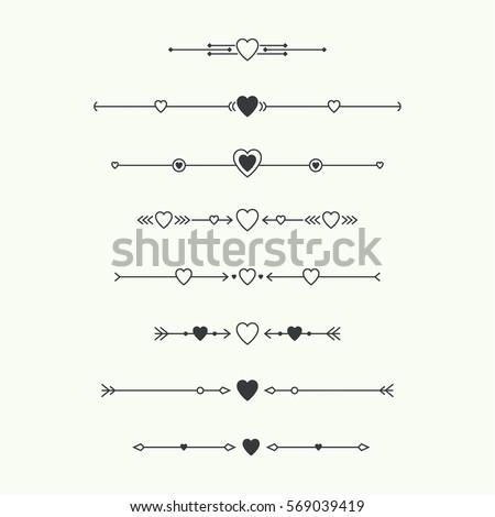 decorative line divider heart fancy lines clip art free