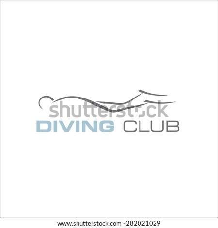 Diving club - stock vector
