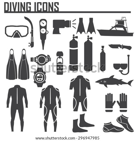 diving icon vector illustration. - stock vector