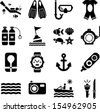Diving icons - stock vector