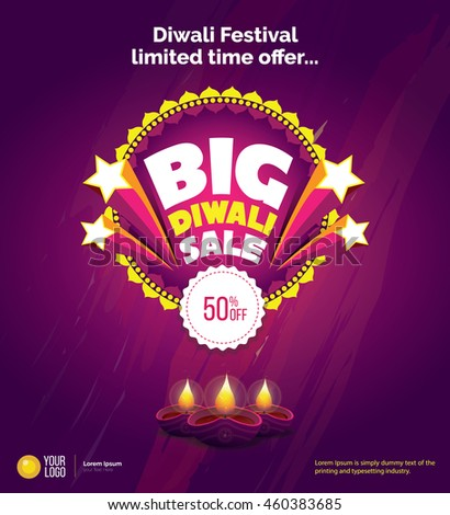 Diwali Big Sale offer Template Design