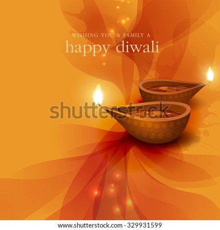 Diwali festival background. - stock vector