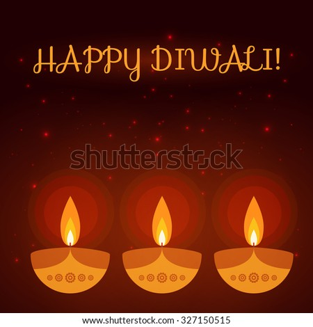 diwali greeting card.  Colorful background made in vector.