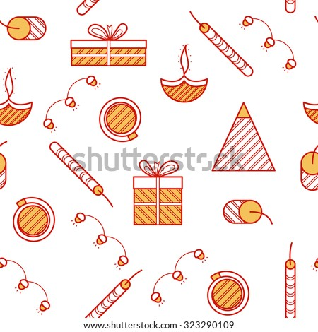 Diwali Seamless Pattern - stock vector
