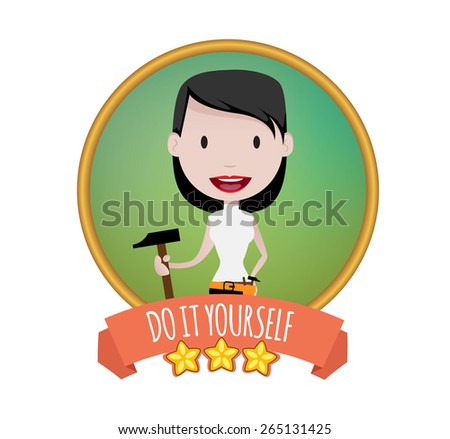 DIY Girl - stock vector
